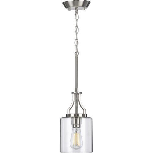 Lassiter Brushed Nickel Six-Inch One-Light Mini Pendant