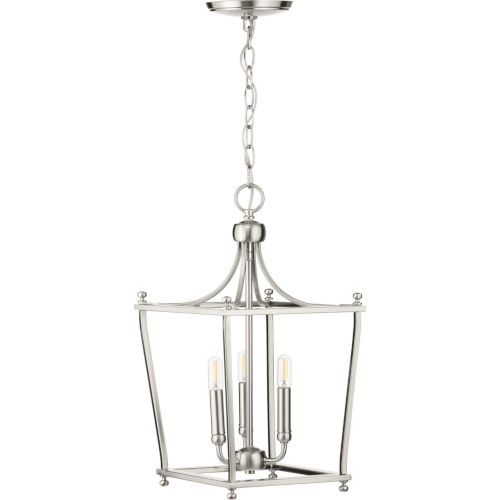Parkhurst Brushed Nickel 11-Inch Three-Light Pendant