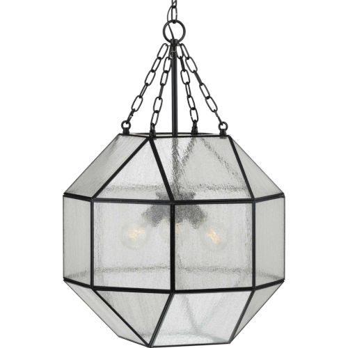 Mauldin Black 17-Inch Three-Light Pendant