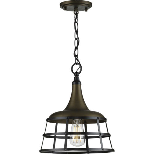 Bastille Aged Brass 12-Inch One-Light Pendant