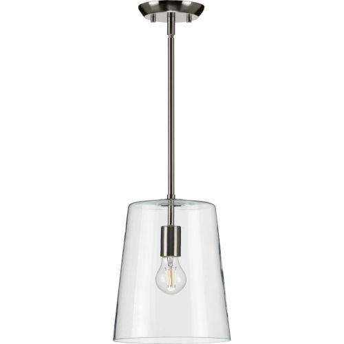 Clarion Brushed Nickel Nine-Inch One-Light Mini Pendant