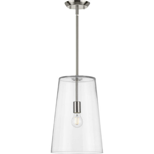 Clarion Brushed Nickel 11-Inch One-Light Pendant