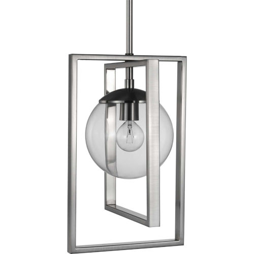 Atwell Brushed Nickel Eight-Inch One-Light Mini Pendant