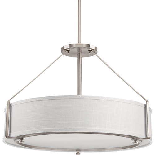 Progress Lighting P5015-09: Ratio Brushed Nickel Four-Light Pendant