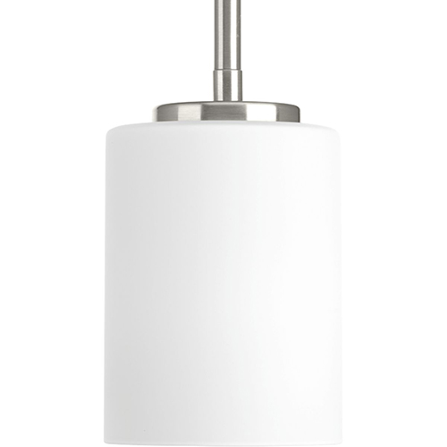 P5170-09: Replay Brushed Nickel Three-Light Mini Pendant with Etched Glass
