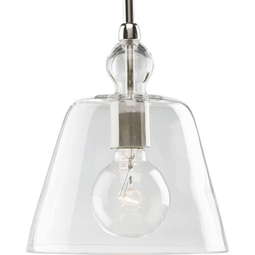 Progress Lighting P5184-104: Polished Nickel One-Light Pendant