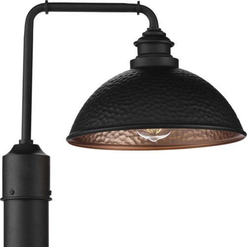 P540032-031 Englewood Black 12-Inch One-Light Outdoor Post Lantern