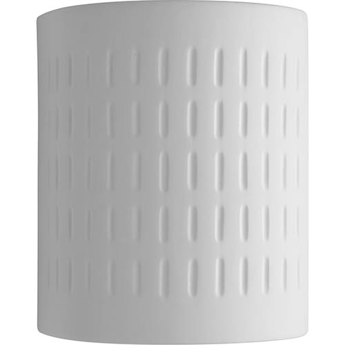 P560044-030: White One-Light Outdoor Wall Mount