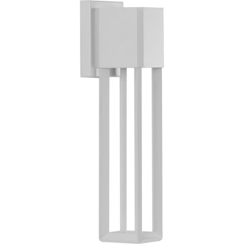 Z-1090 Satin White Five-Inch LED Outdoor Wall Sconce