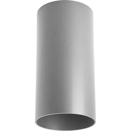 P5741-82/30K: Cylinder Metallic Gray One-Light LED Outdoor Ceiling Mount