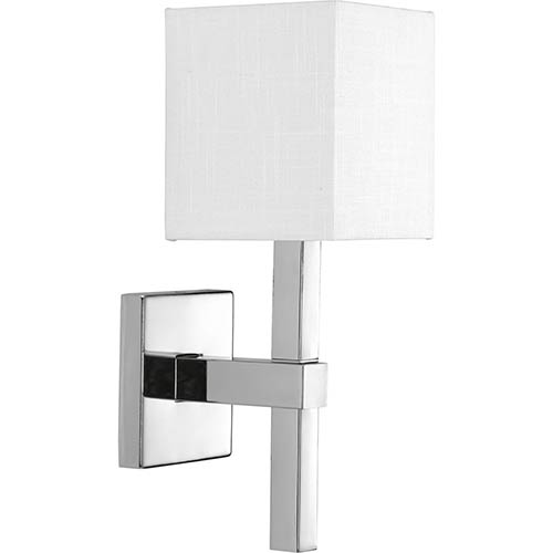 Progress Lighting P710016-015: Metro Polished Chrome One-Light Wall Sconce