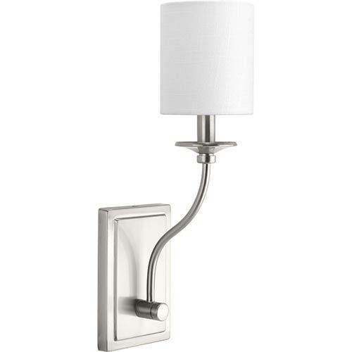 P710018-009: Bonita Brushed Nickel One-Light Wall Sconce