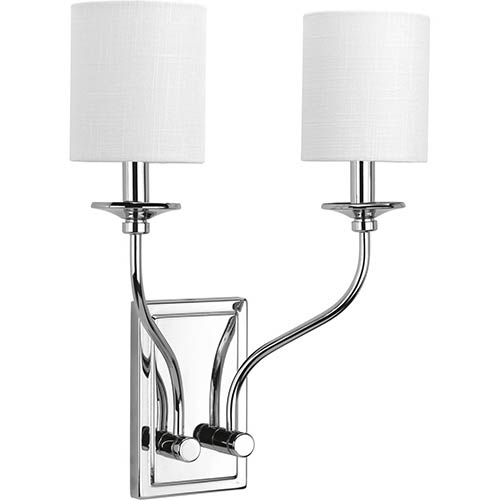 P710019-015: Bonita Polished Chrome Two-Light Wall Sconce