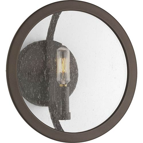 P710021-143: Captivate Graphite One-Light Wall Sconce with Clear Seeded Glass