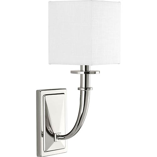 P710025-104: Avana Polished Nickel One-Light Wall Sconce