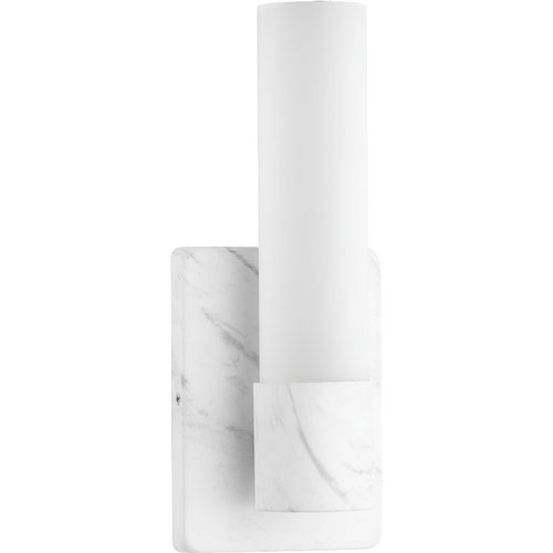 P710047-150-30: Blanco LED Faux White Marble ADA Wall Sconce