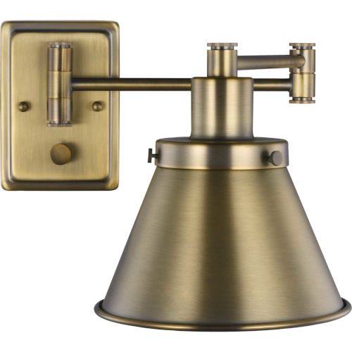 Hinton Vintage Brass Eight-Inch One-Light ADA Wall Sconce