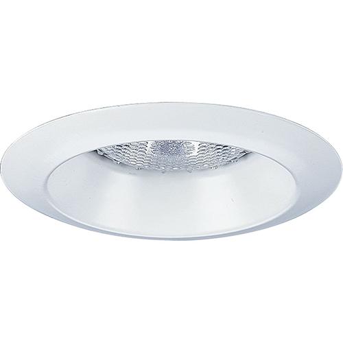 Progress Lighting P8041-WL28: White One-Light Halogen Recessed Open Shower Trim