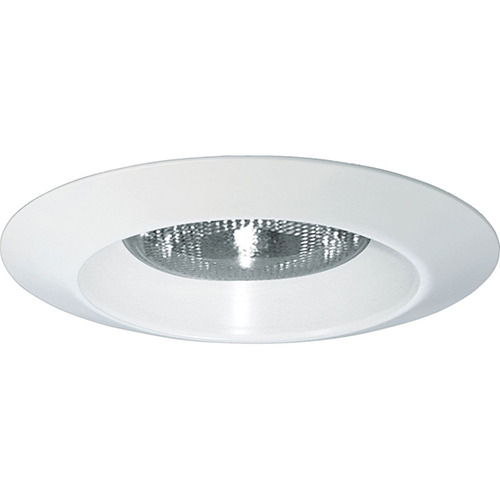 Progress Lighting P8074WL-28: White Recessed Open Shower Trim