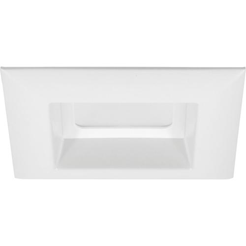 Progress Lighting P8180-28-30K: White Four-Inch One-Light LED Energy Star Square Recessed Trim