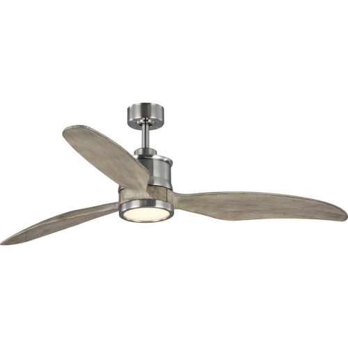 Farris Brushed Nickel 60-Inch LED One-Light Ceiling Fan