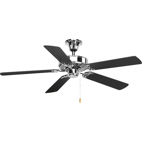 Progress Lighting P2501-15: Air Pro Polished Chrome 52-Inch Ceiling Fan