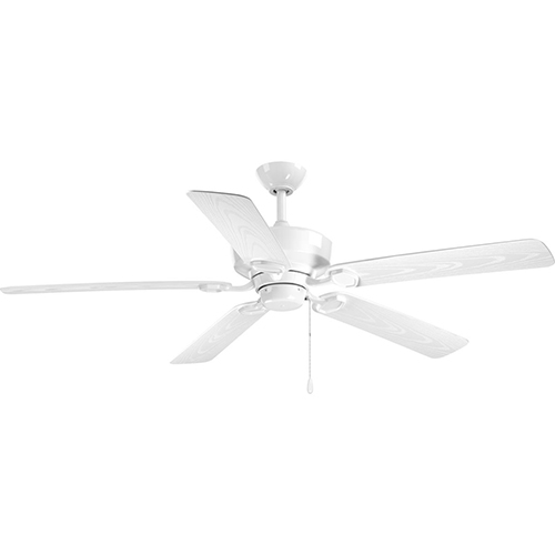 Progress Lighting P2562-30: Lakehurst White 60-Inch Ceiling Fan