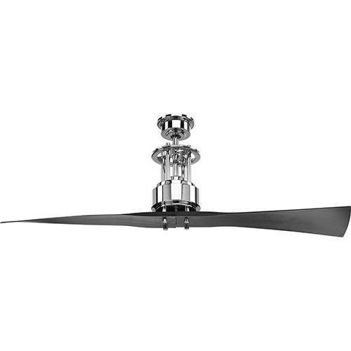 Progress Lighting P2570-15: Spades Polished Chrome 56-Inch Ceiling Fan