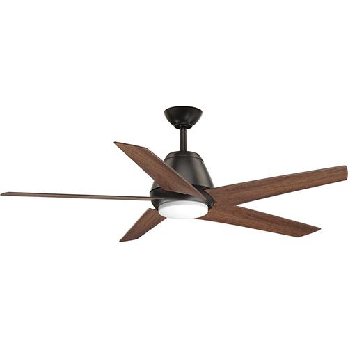 Progress Lighting P2582-2030K: Gust Antique Bronze 54-Inch LED Ceiling Fan