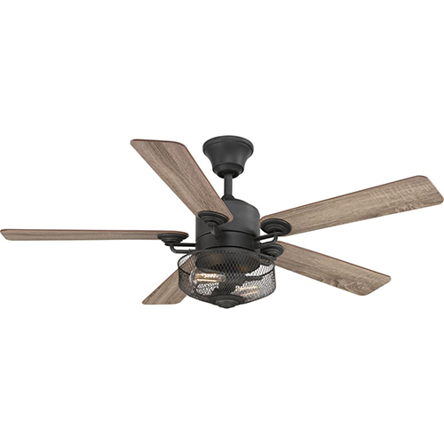 P2584-71: Greer Gilded Iron 54-Inch Two-Light LED Ceiling Fan