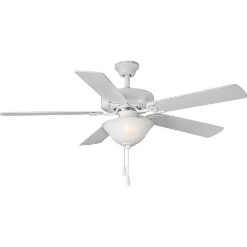 White 52-Inch LED Two-Light Ceiling Fan