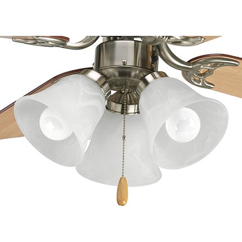 P2600-09WB: Brushed Nickel Three-Light LED Light Kit