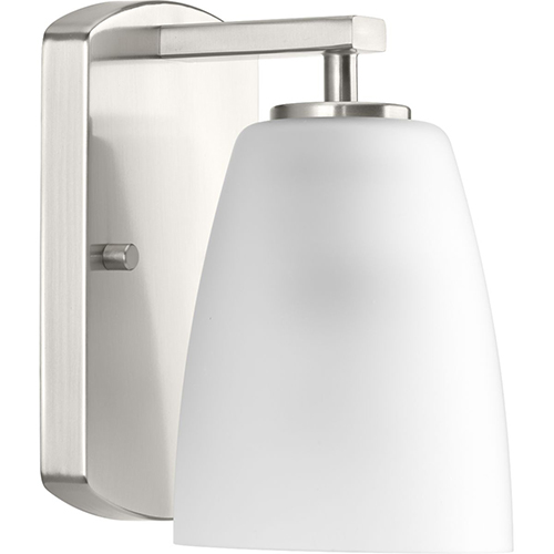 P300131-009: Leap Brushed Nickel One-Light Bath Sconce