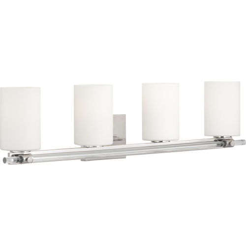 Lisbon Polished Nickel Four-Light Bath Fixture