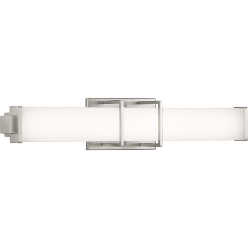 Brushed Nickel 24-Inch LED Linear One-Light Bath Fixture