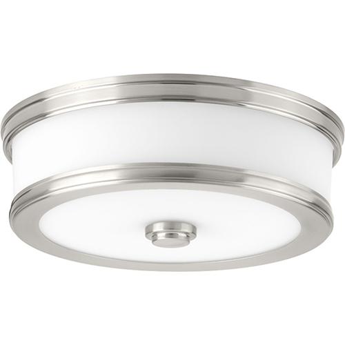 Progress Lighting P350085-009-30: Bezel LED Brushed Nickel Energy Star LED Flush Mount