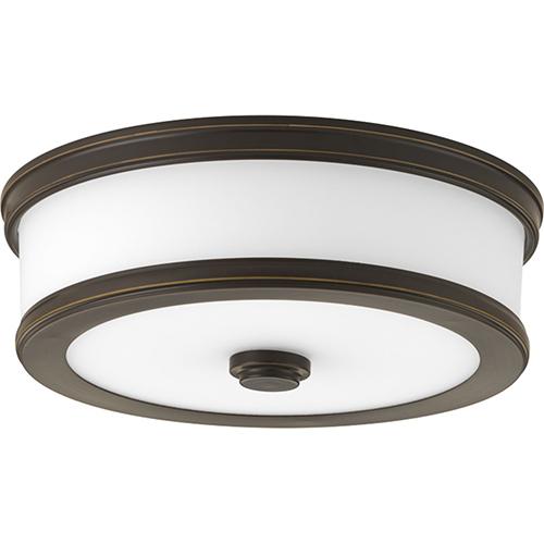 Progress Lighting P350085-020-30: Bezel LED Antique Bronze Energy Star LED Flush Mount