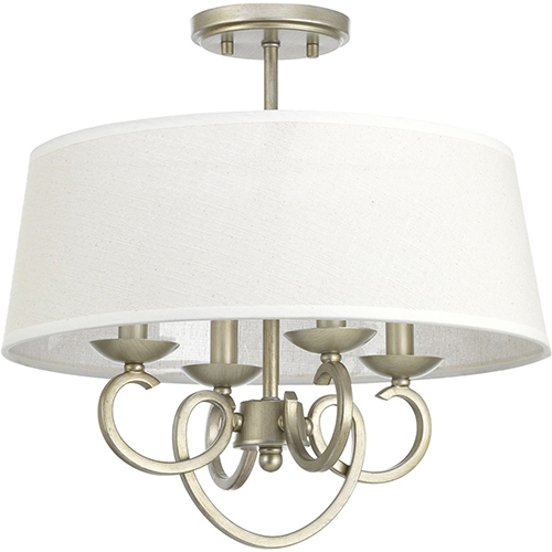Progress Lighting P350092-134: Savor Silver Ridge Four-Light Semi Flush Mount