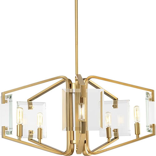 Progress Lighting P400071 109 Cahill Brushed Bronze Five Light Chandelier