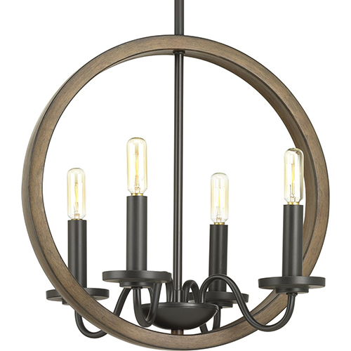 Progress Lighting P400080-020: Fontayne Antique Bronze Four-Light Chandelier