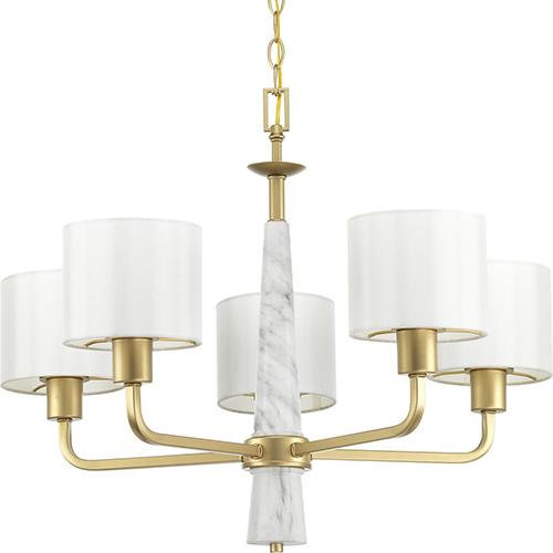 P400098-078: Palacio Vintage Gold Five-Light Chandelier
