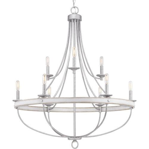 Gulliver Galvanized Nine-Light Chandelier