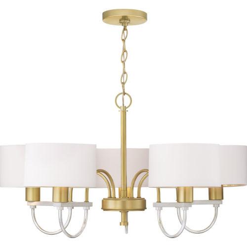 Rigsby Vintage Gold Five-Light Chandelier