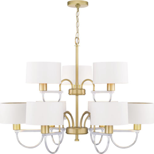 Rigsby Vintage Gold Nine-Light Chandelier