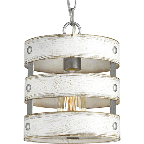 P500022-141: Gulliver Galvanized One-Light Mini Pendant