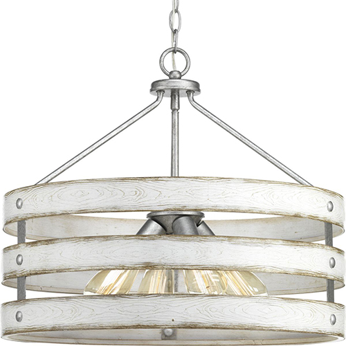 P500023-141: Gulliver Galvanized Four-Light Pendant
