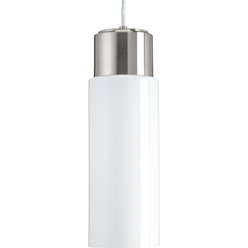 Progress Lighting P500065-009-30: Neat LED Brushed Nickel Energy Star LED Mini Pendant