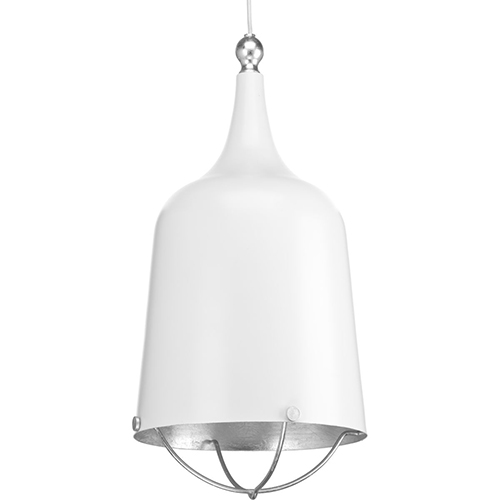 Progress Lighting P500098-030: Era White One-Light Pendant