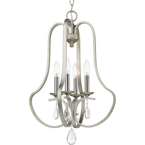 P500099-134: Anjoux Silver Ridge Four-Light Chandelier