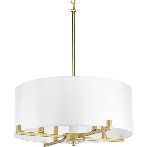 Progress Lighting P500108-078: Palacio Vintage Gold Four-Light Pendant